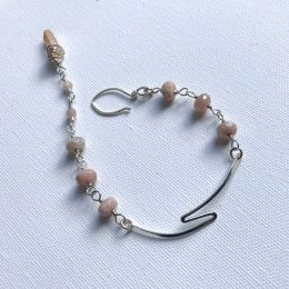 Sunstone and Quartz Bracelet
