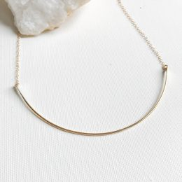 Wire and chain choker necklace
