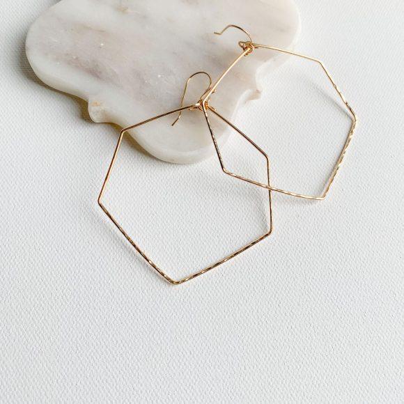 Myko Hexagon Earrings