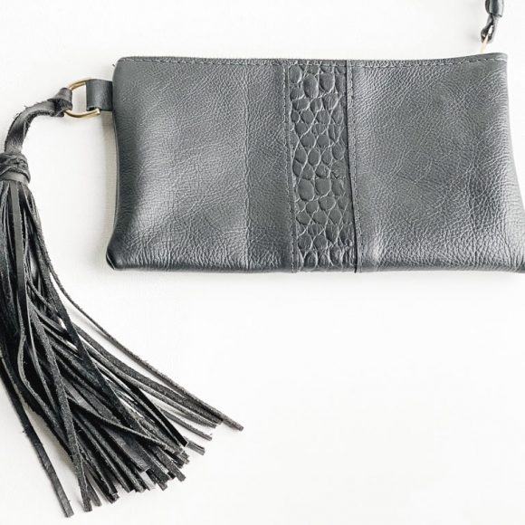 Iggy Leather Clutch Bag