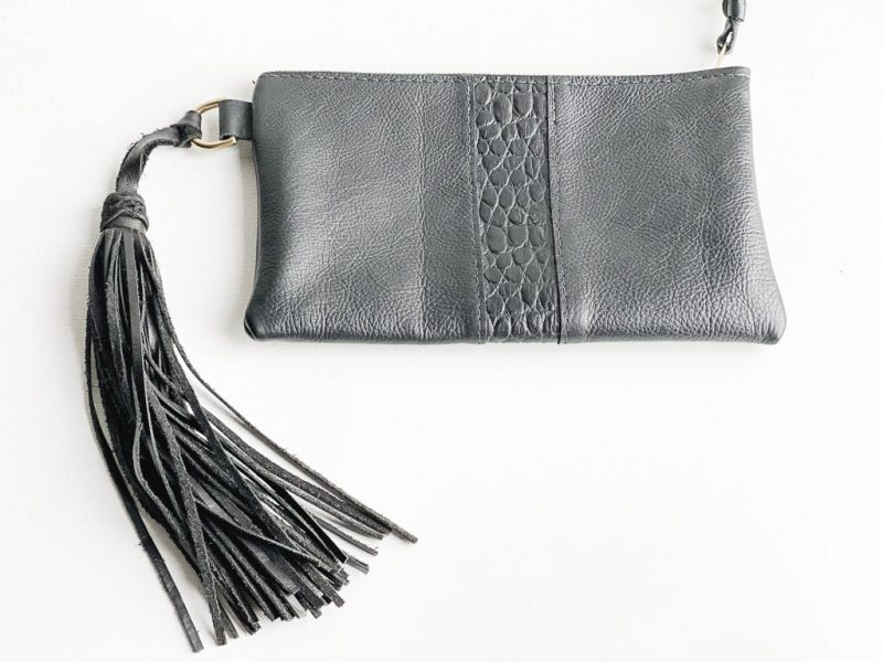 Iggy Leather Clutch Bag